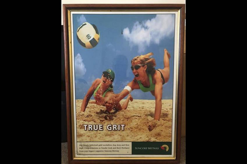 Framed TRUE GRIT POSTER autographed by girls to help bushfire devastation0