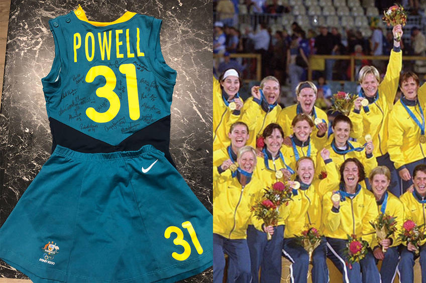 Signed Playing Suit from Hockeyroos to help with bushfire devastation0