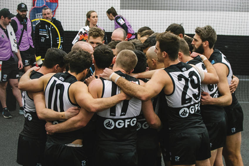 Aussie Rules Port Adelaide Locker Room Experience1