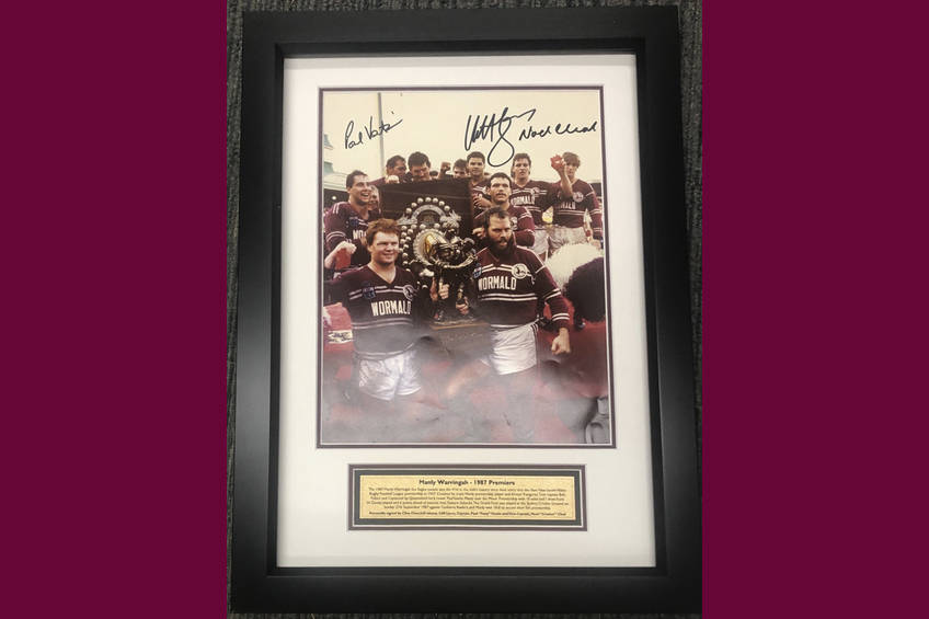 1987 Manly Celebration photo signed by Vautin, Lyons & Cleal0
