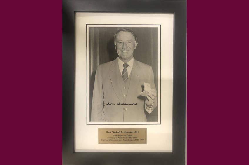 Ken Arthurson signed and framed photo0