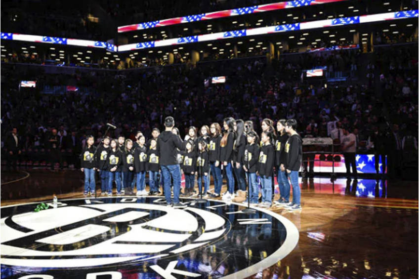 Brooklyn Nets National Anthem Experience0