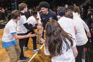 Brooklyn Nets High Five Line Experience0