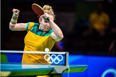 Olympian Melissa Tapper Table Tennis Experience