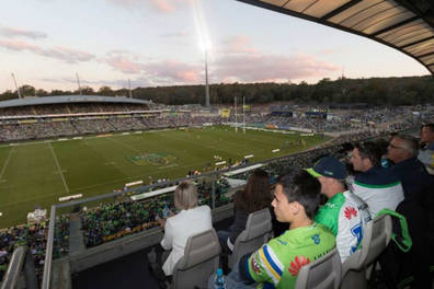 Canberra Raiders Open Air Box Experience