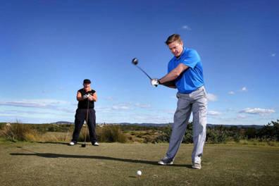 Golf with Damien Thomlinson