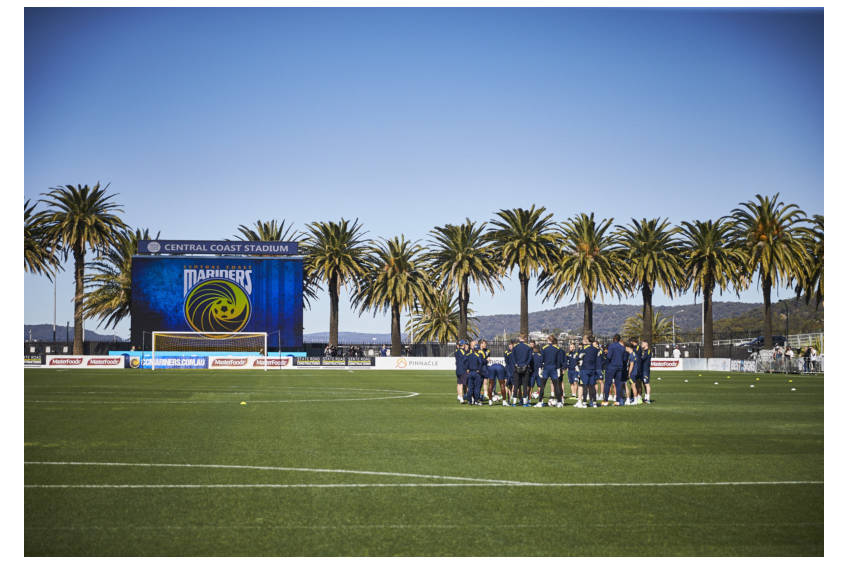 Attend Central Coast Mariners Football Club training session0
