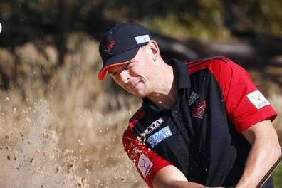 Golf with Aussie rules Brendon Goddard