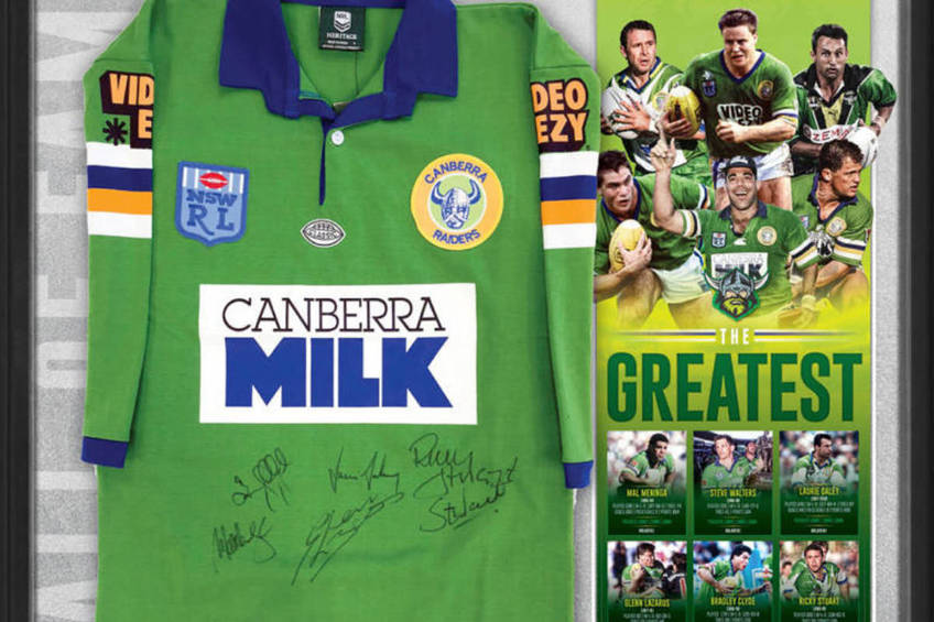 CANBERRA RAIDERS SIGNED 'THE GREATEST' JERSEY0