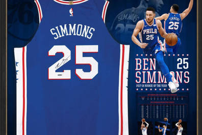 76ers Jersey signed by Ben Simmons
