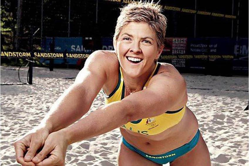 Signed Beach Volleyball - Natalie Cook OAM2