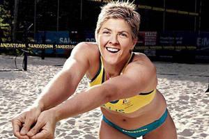Signed Beach Volleyball - Natalie Cook OAM2