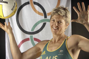 Signed Beach Volleyball - Natalie Cook OAM0