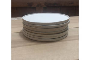1 hand made salad bowl and 8 plates0