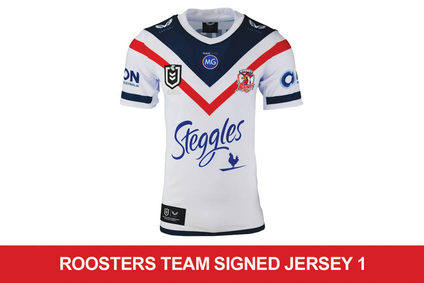 Roosters signed team Jersey 10