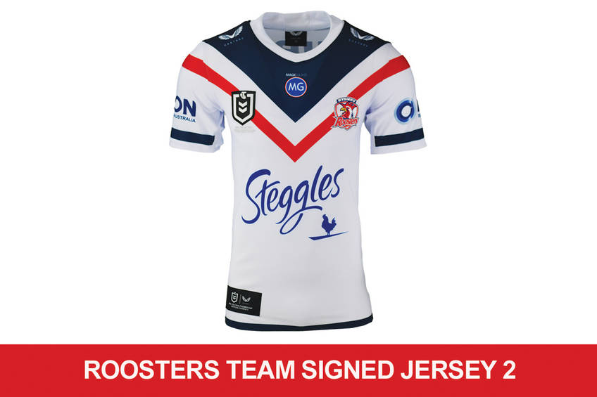 Roosters signed team Jersey 20