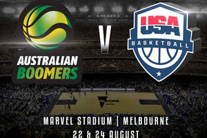 Boomers V USA Basketball - Marvel Stadium Melbourne - Medallion Club – Cocktail Package0